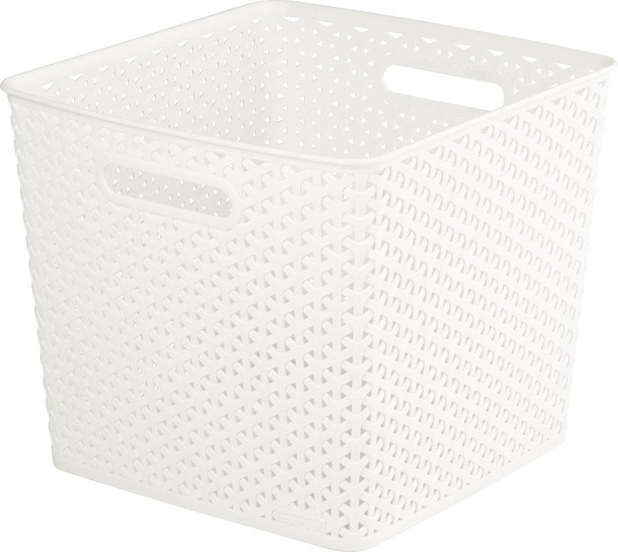 """Curver úložný box RATTAN ,,Y"""" STYLE - krémový 03613-885"""