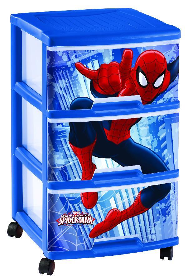 Regálek se 3 zásuvkami 3x20L SPIDERMAN