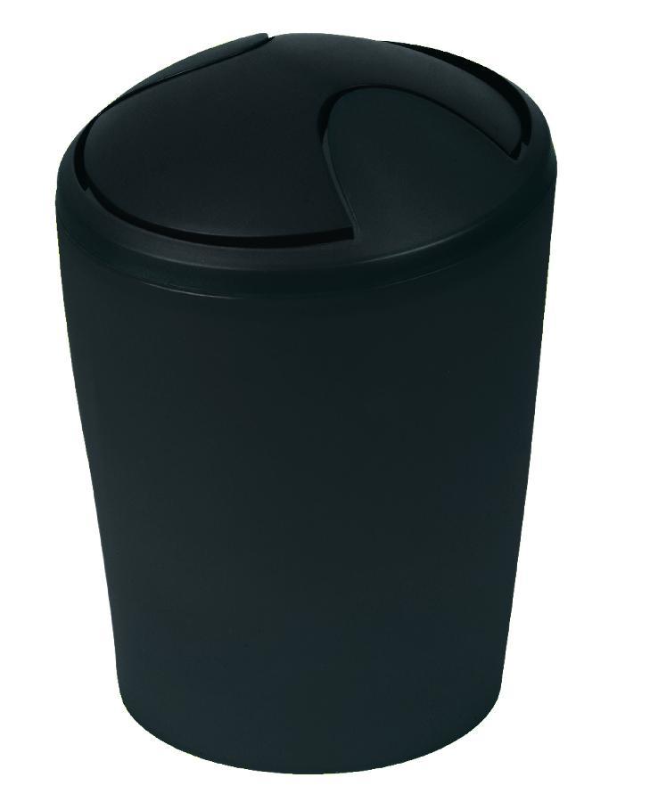 Spirella odpadkový koš 2 l MOVE - černá 1014954