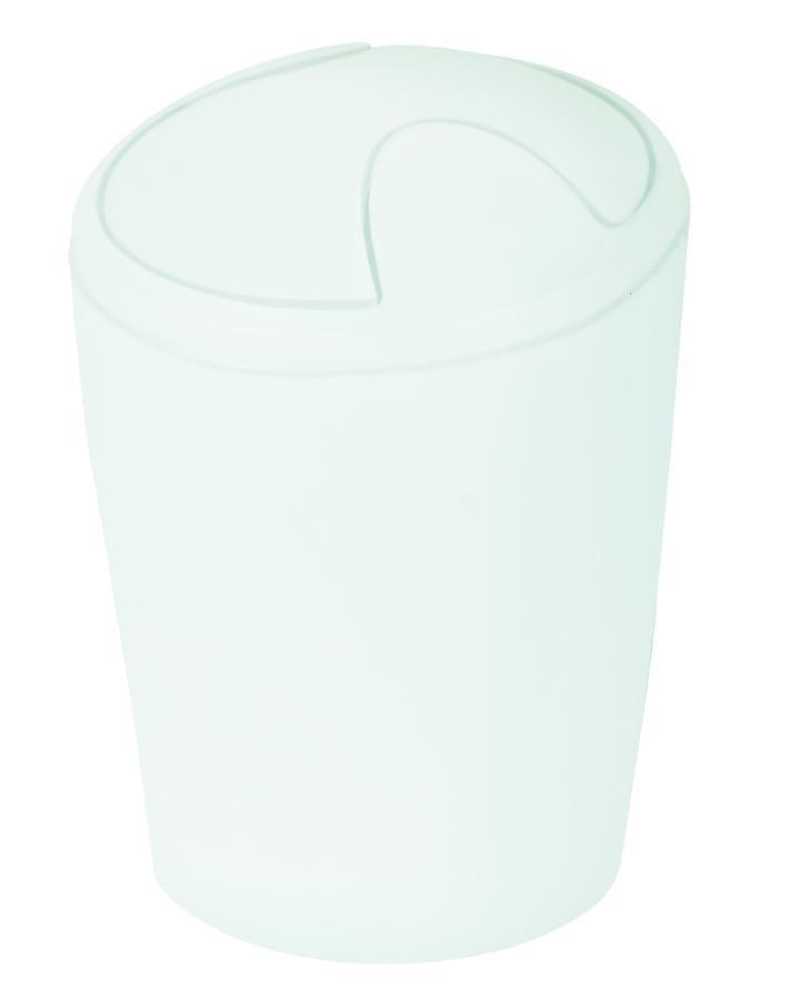 Spirella odpadkový koš 2 l MOVE - bílá 1014960