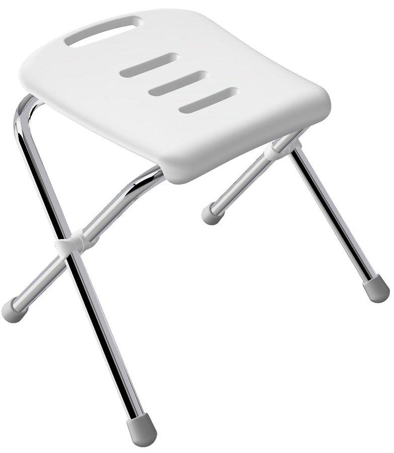 Skládací židle do koupelny se závěsným skladováním chrom
