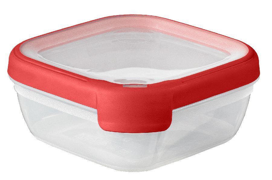Dóza na potraviny GrandChef čtverec 0,75l - červená