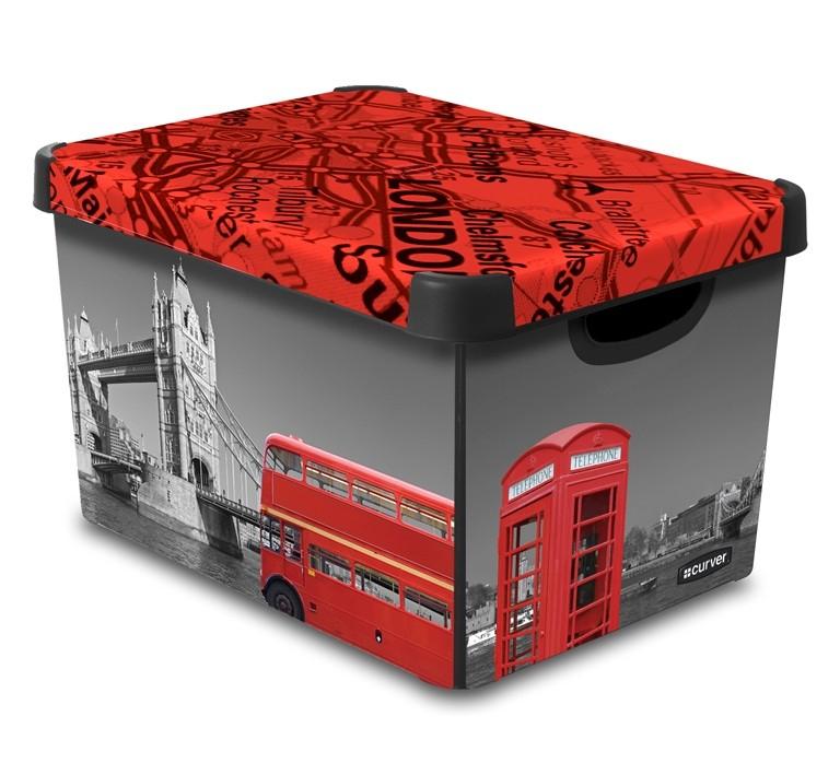 Curver dekorativní úložný box L - LONDON 04711-L08