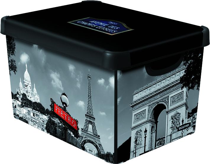 Curver dekorativní úložný box L - PARIS 04711-P35