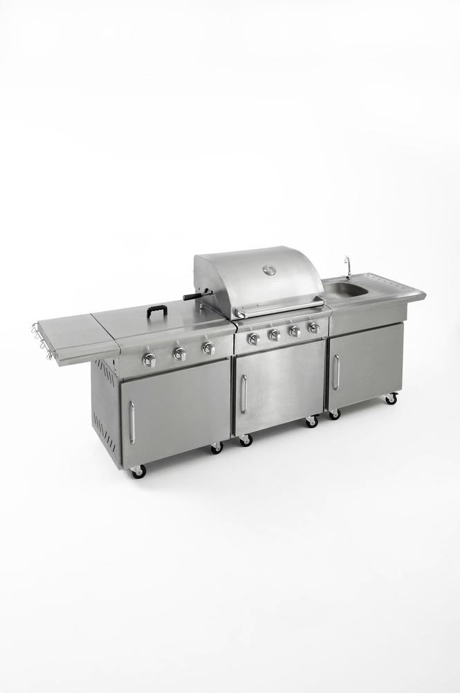 Kuchyň s plynovým grilem - profi gastro