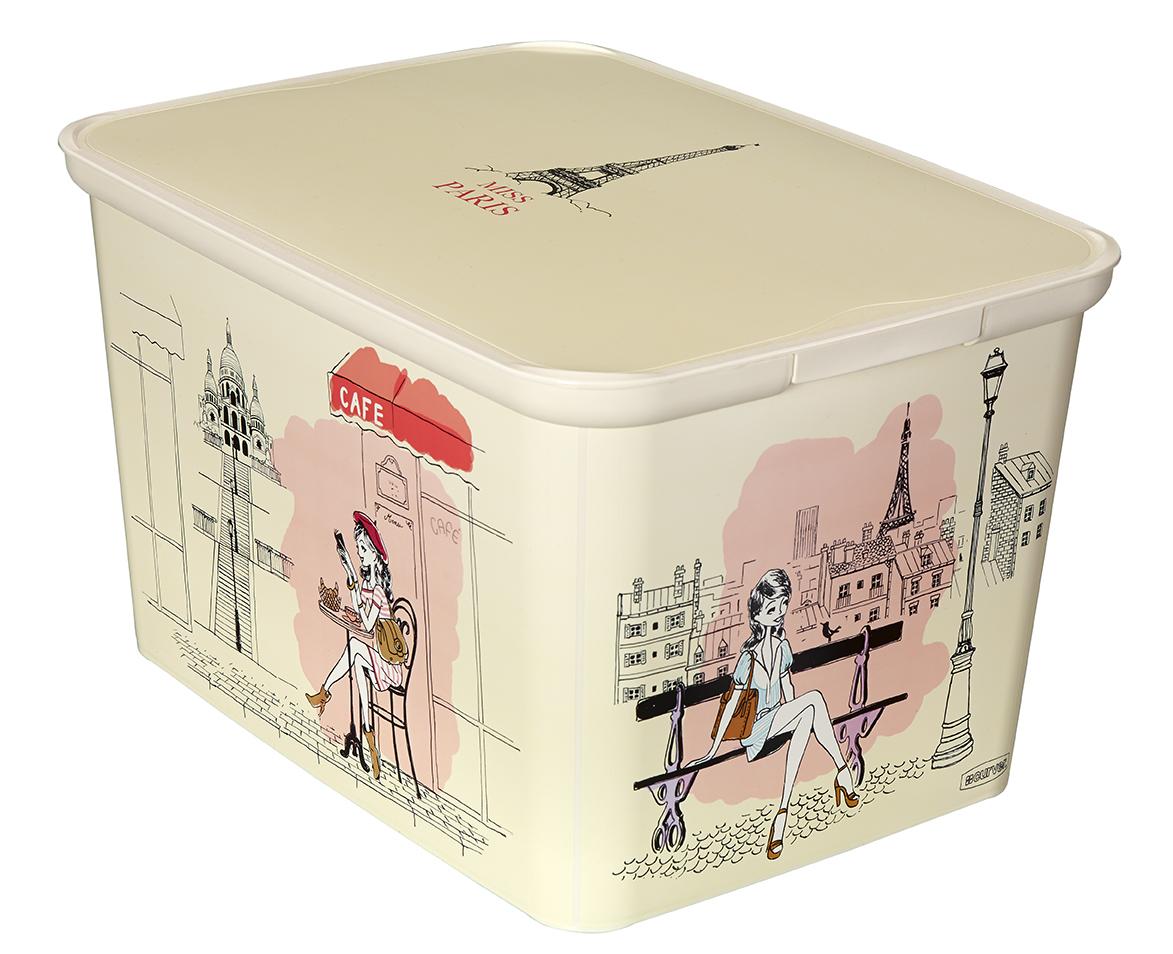 Curver AMSTERDAM L úložný box Miss Paris 04730-M33