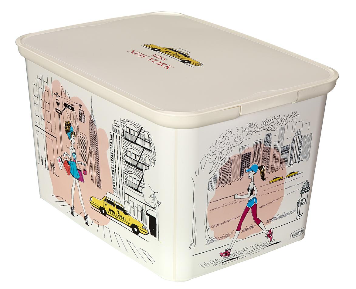 Curver AMSTERDAM L úložný box Miss New York 04730-M35
