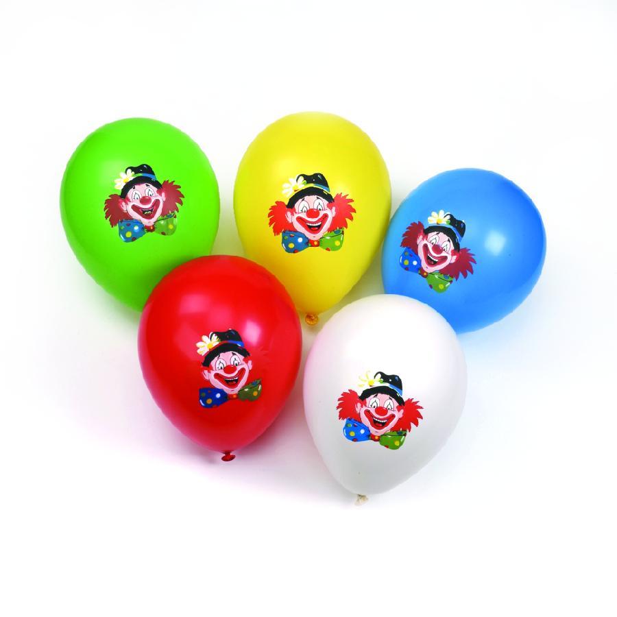 Nafukovací balonky s obrázkem klauna