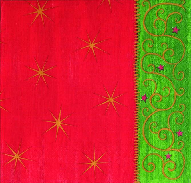 Papstar vánoční ubrousky Glory red/green 17459