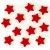 Obrázek 12 Deko příslušenství O 3 cm červený Stars