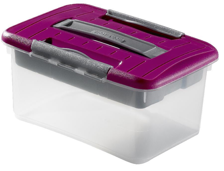 Úložný box s organizérem OPTIMA hobby 5l - růžový