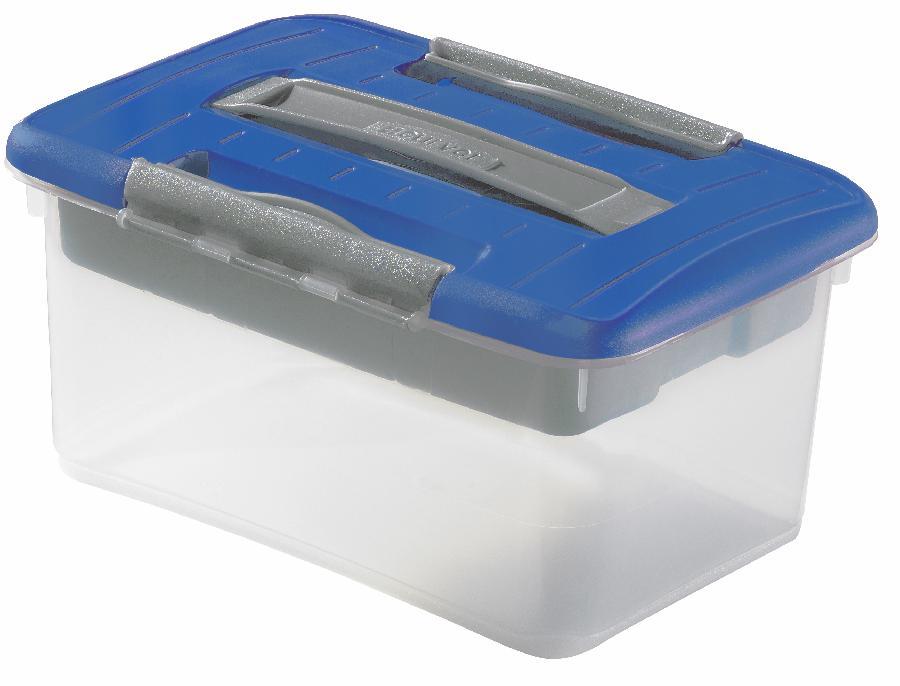 Úložný box s organizérem OPTIMA hobby 5l - modrý