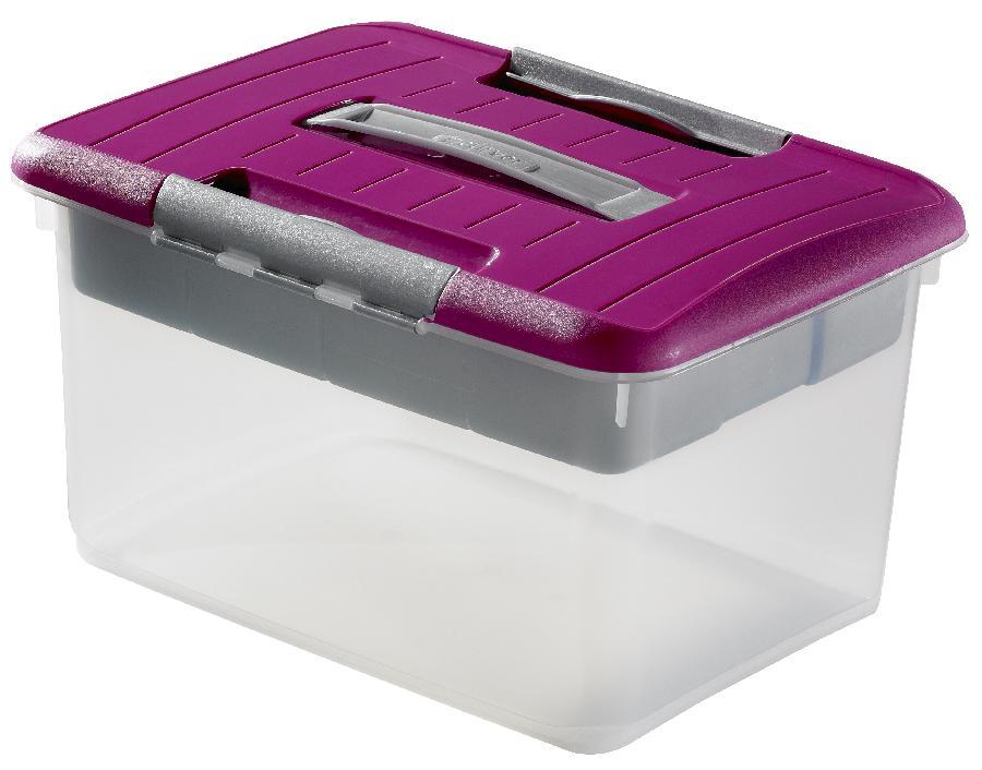 Úložný box s organizérem OPTIMA hobby 15l - růžový