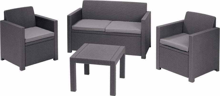 Zahradní set nábytku ALABAMA šedá 213968