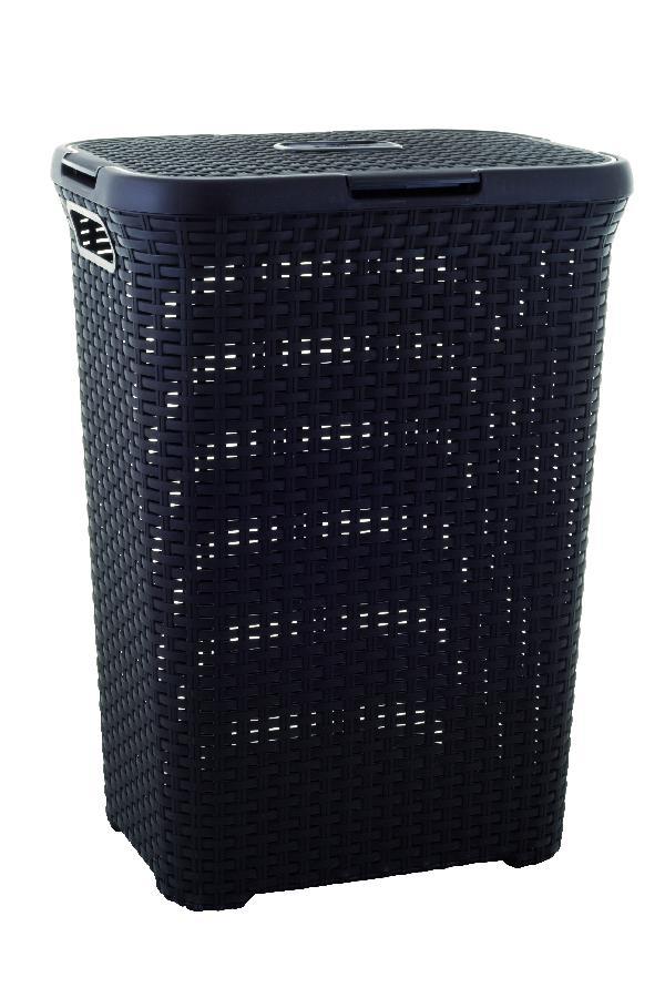 Koš na špinavé prádlo RATTAN 60l - hnědý