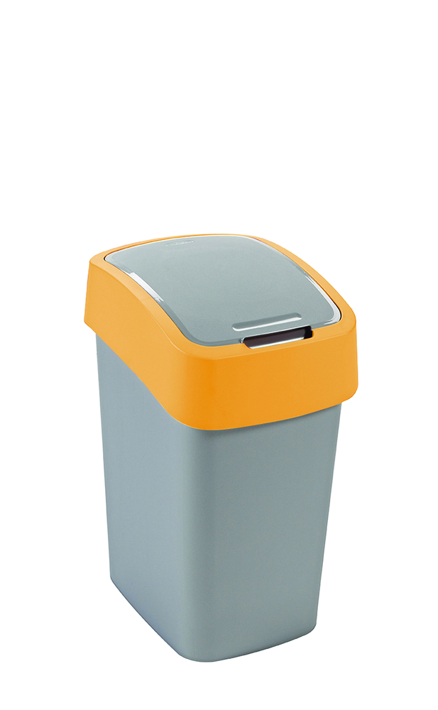 Koš odpadkový Flipbin 10l stříbrná/žlutá Curver 02170-535