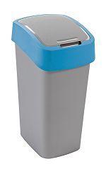 Odpadkový koš Flipbin 50l stříbrná/modrá