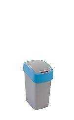 Koš odpadkový Flipbin 10l stříbrná/modrá  Curver 02170-734