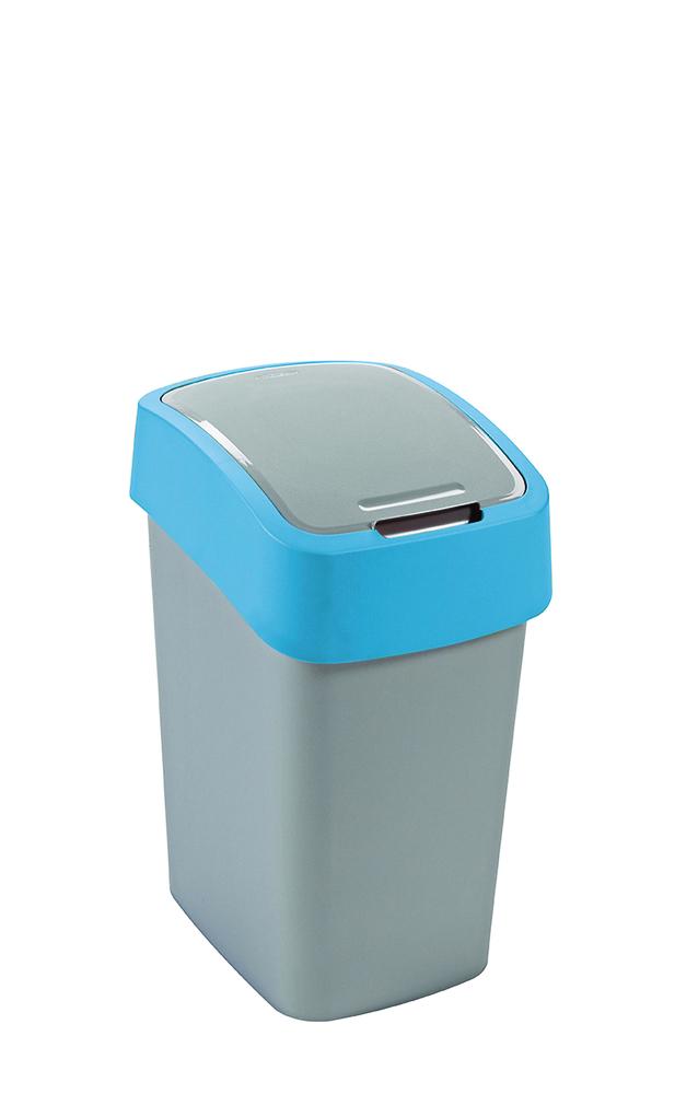 Odpadkový koš Flipbin 25l stříbrná/modrá