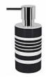 Spirella TUBE STRIPES dávkovač mýdla - černá 1017289
