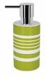 Spirella TUBE STRIPES dávkovač mýdla - zelená 1017277