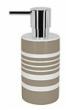 Spirella TUBE STRIPES dávkovač mýdla - béžová 1017281