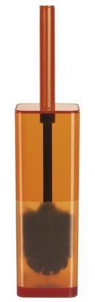 WC štětka CUBO CLEAR orange