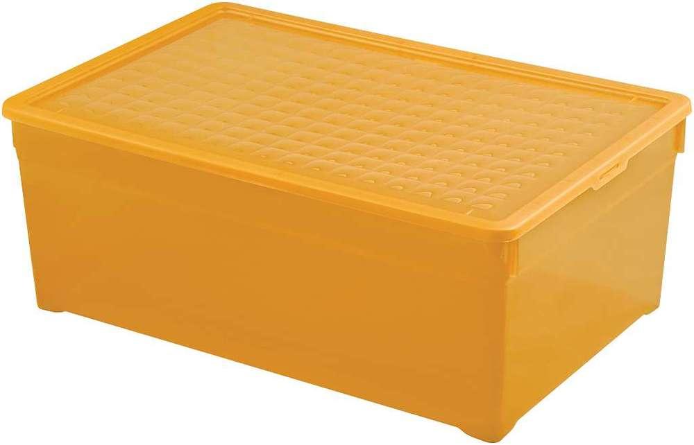Curver úložný box TEXTILE 45L - oranžový 03008-250