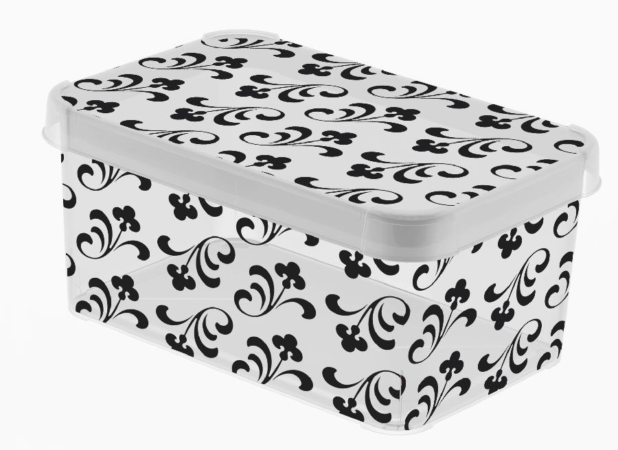 Dekorativní box S MILKY - DARK ARABESQUE