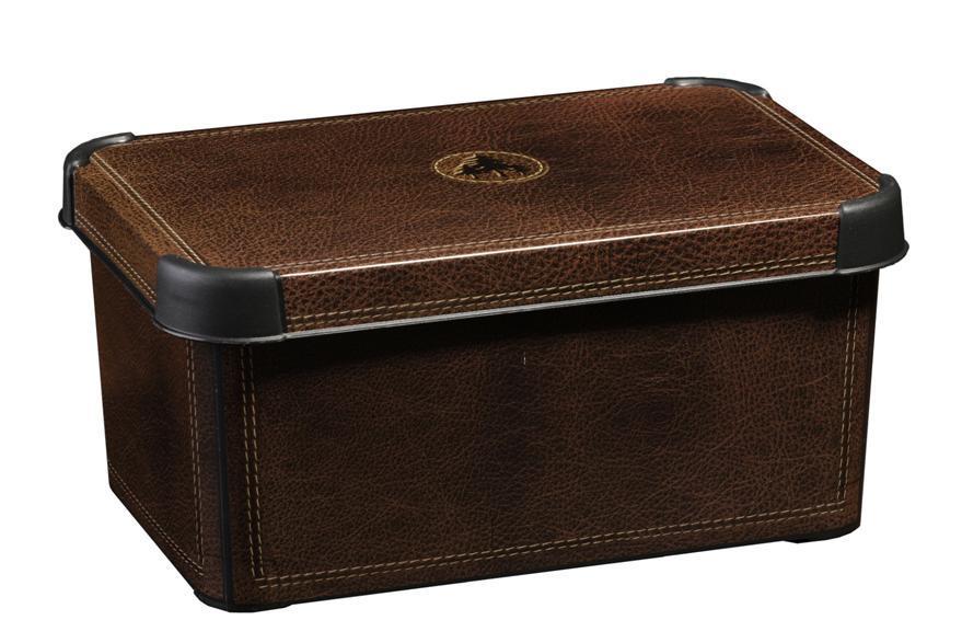 Curver dekorativní úložný box S - Leather 04710-D12