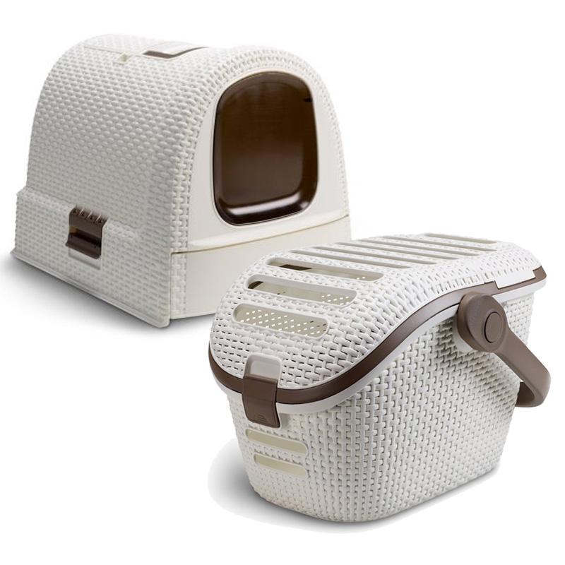 Curver pet sada - přepravní box pro domácí mazlíčky + toaleta pro kočky 98253