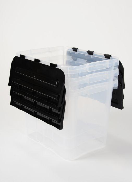 Heidrun set 3ks Box úložný s integrovaným černým víkem 30l 31643