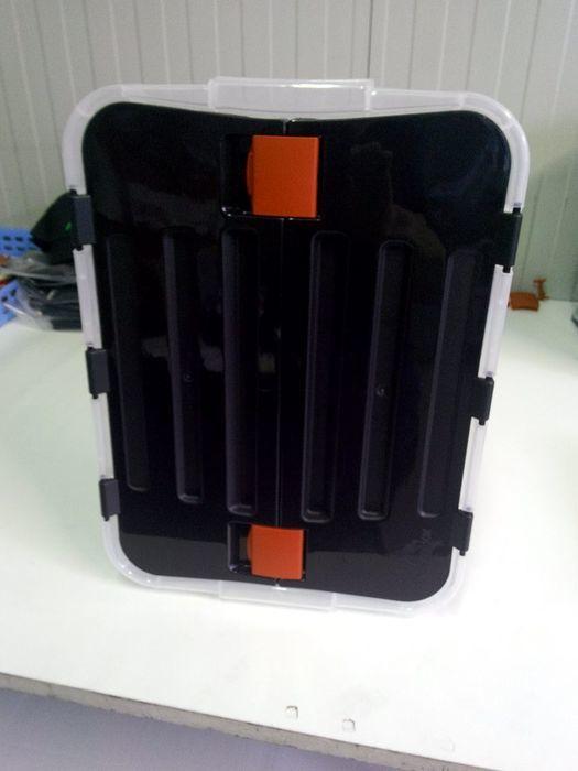 Heidrun Box úložný s integrovaným černým víkem 100l 1644