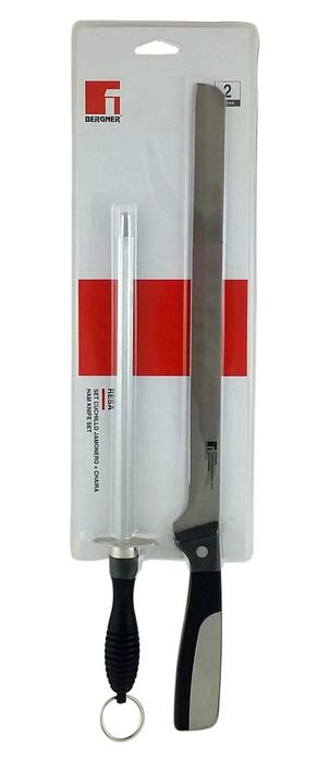 Set nůž na šunku 25 cm + ostřič 20 cm RESA BG-3953-MM