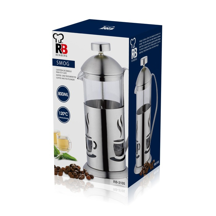 Konvička na čaj a kávu French Press 800 ml RB-3105