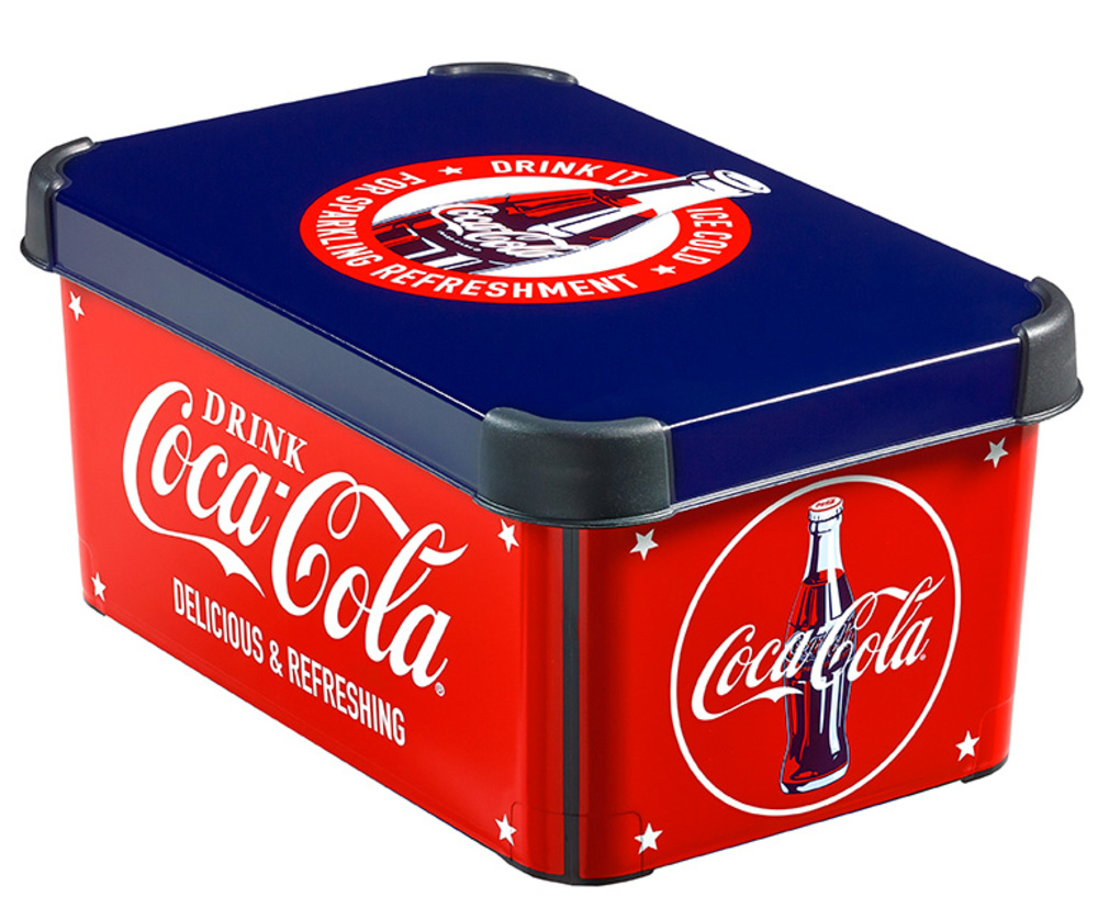 Curver dekorativní úložný box S - Coca-Cola 04710-C12