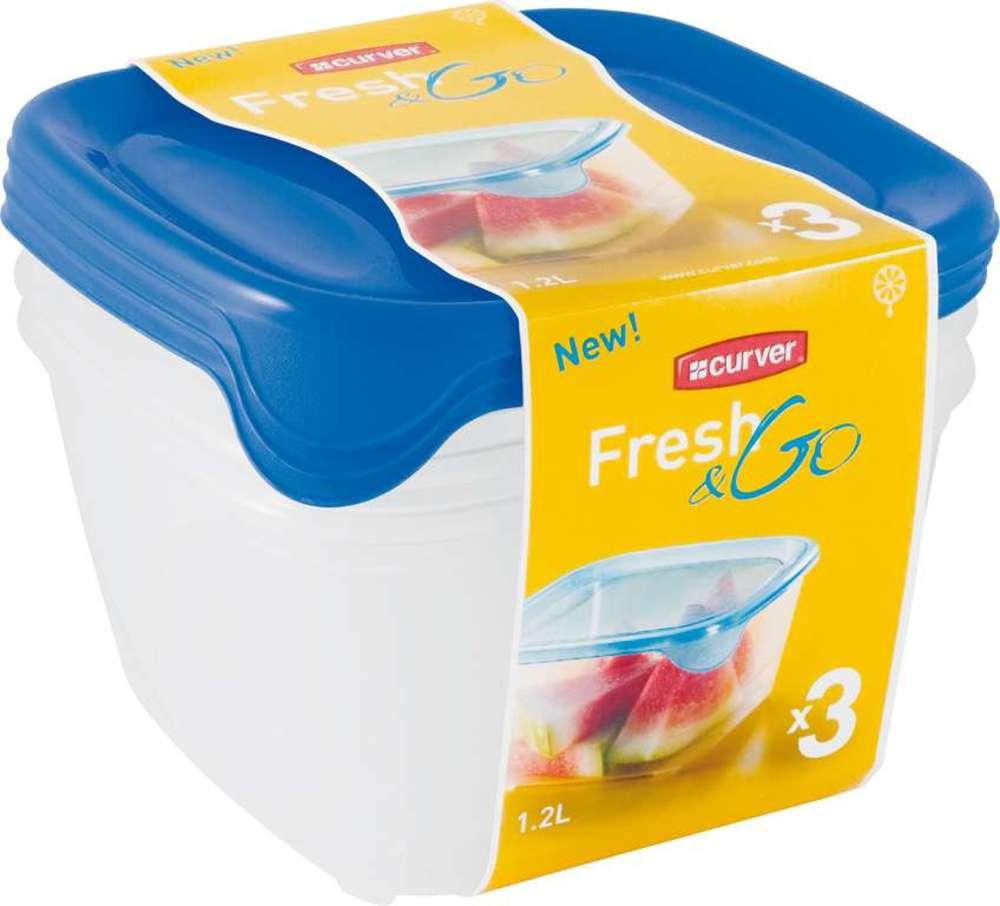 Sada potravinových dóz FRESH&GO 3x1 08560-139