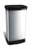 Obrázek Koš odpadkový Curver DECO BIN 50l stříbrný 02162-582