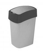Obrázek Curver FLIPBIN 10l odpadkový koš šedá/černá 02170-686