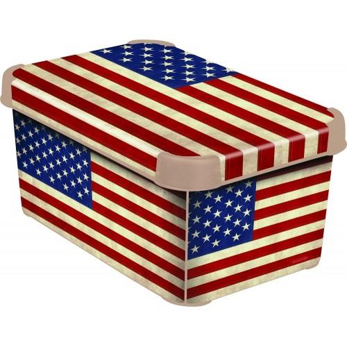 Curver dekorativní úložný box L - AMERICAN FLAG 04711-A33