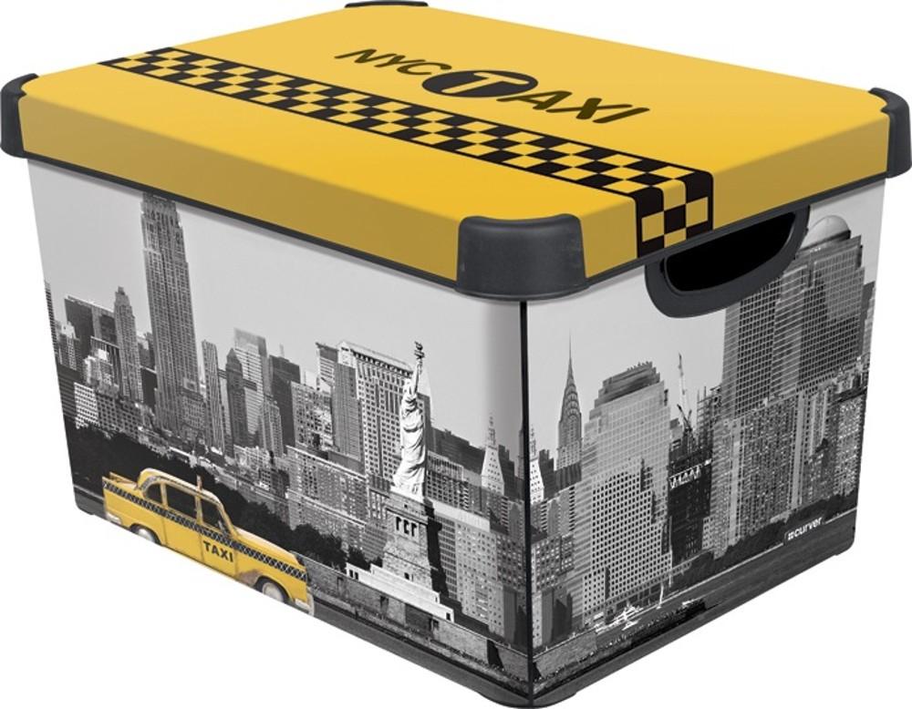 Curver dekorativní úložný box L - NEW YORK 04711-D16
