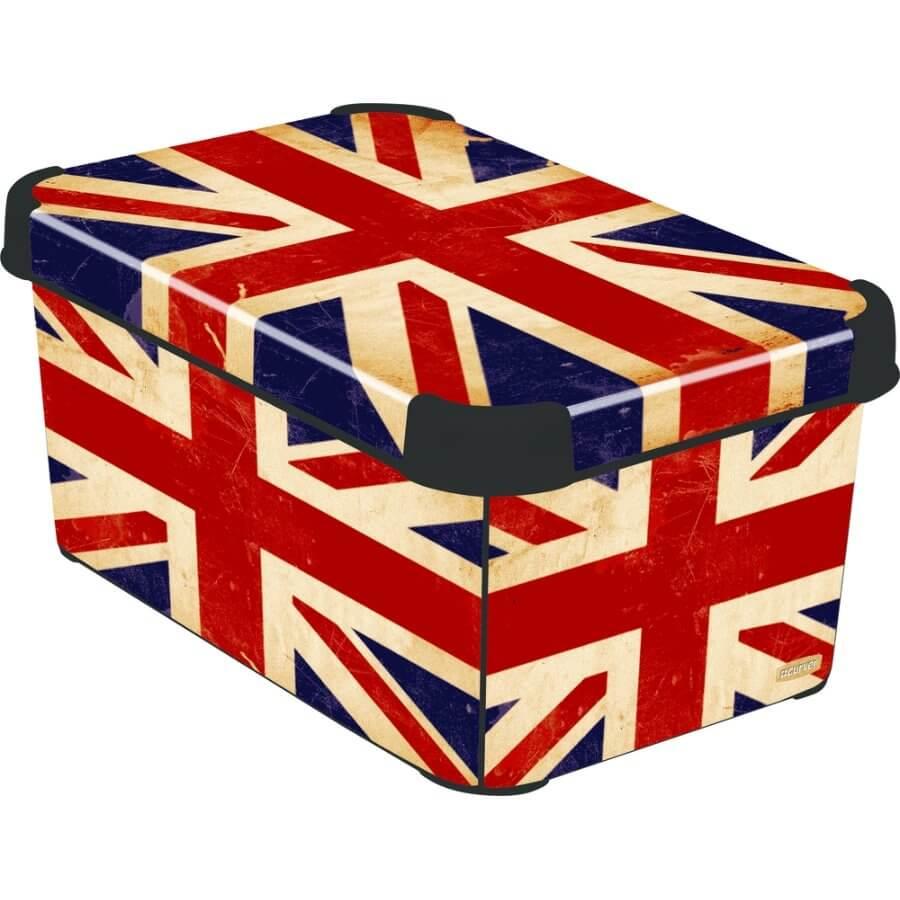 Curver BRITISH FLAG dekorativní úložný box S 04710-D99