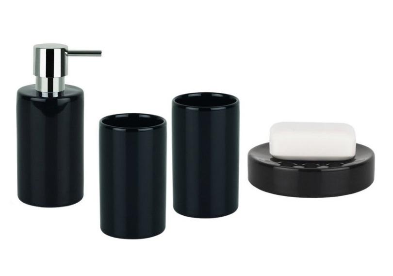 Spirella TUBE BLACK set koupelnových doplňků 1017645