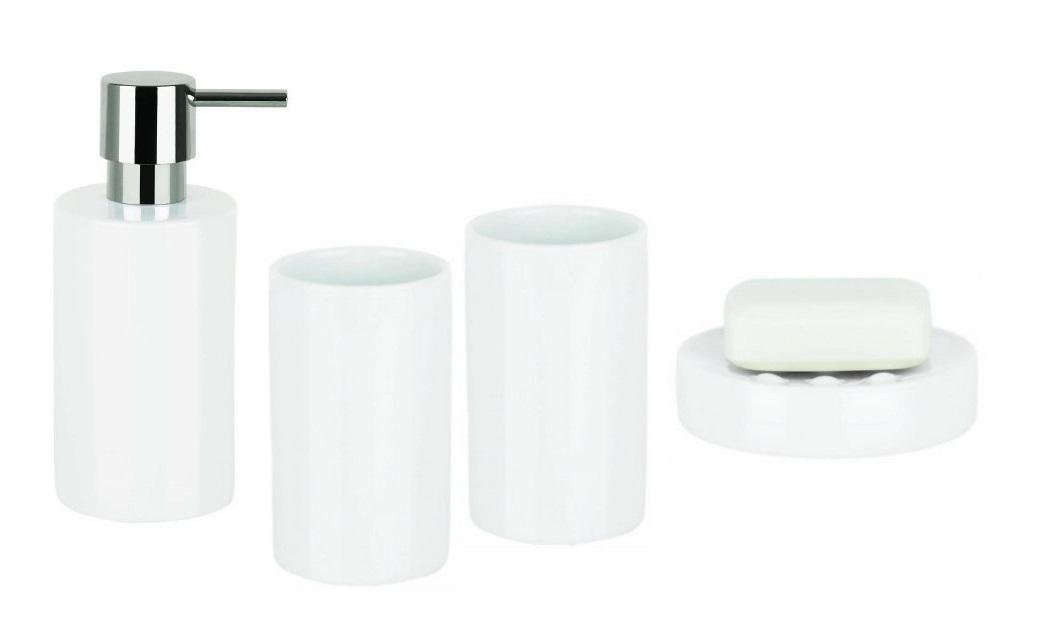 Spirella TUBE WHITE set koupelnových doplňků 1017644
