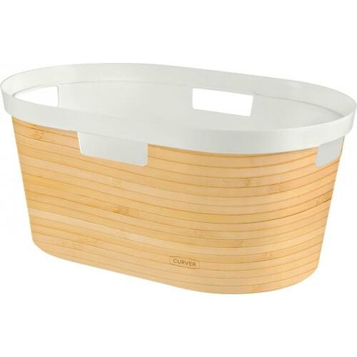 Curver koš na čisté prádlo INFINITY 39L - vzor bambus 04762-B45