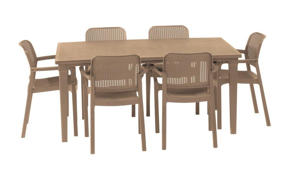 Plastový stůl Futura cappucino 209265