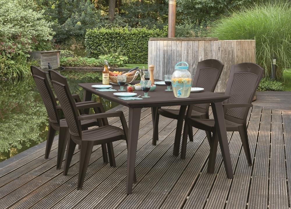 Zahradní židle Minnesota, hnědá 209239