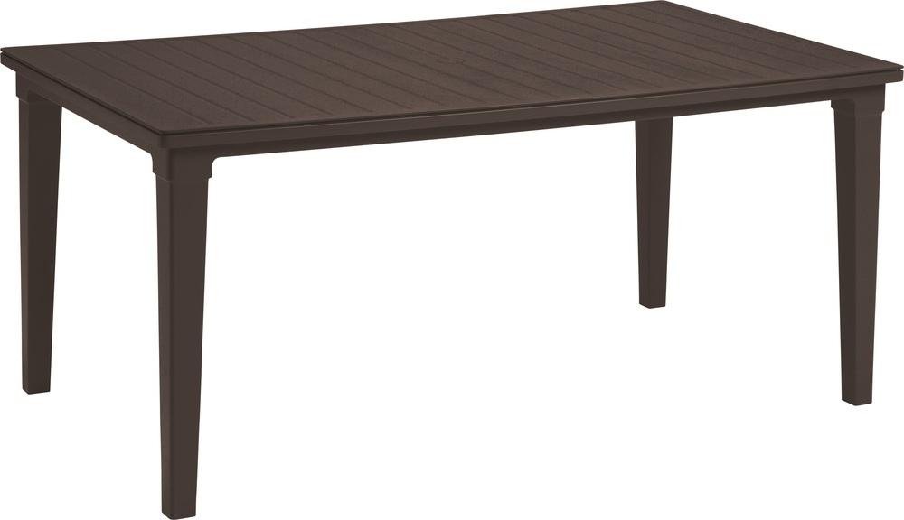 Plastový stůl Futura hnědý 206977