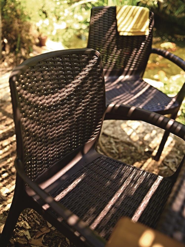 Allibert Zahradní židle BALI hnědá 230670