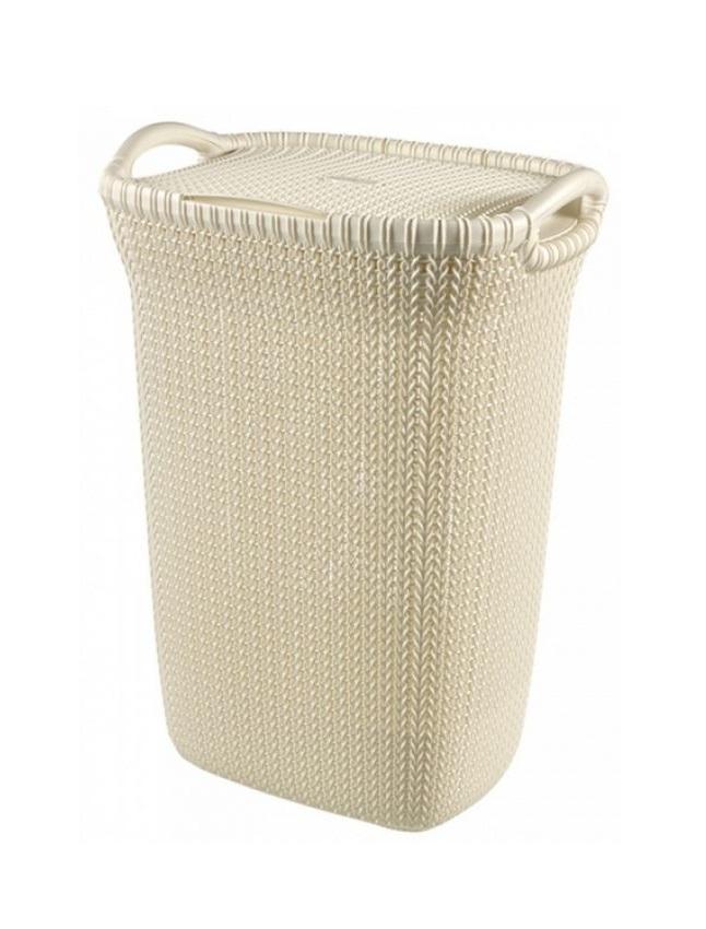 Koš na špinavé prádlo KNIT 57L béžový